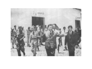 Sihanouk's tour in the South of the country early 60s