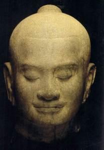 The head of Jayavarman VII