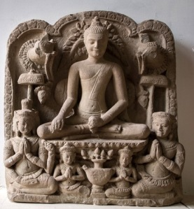 Heresy? Buddha worshiped by Brahma and Shiva